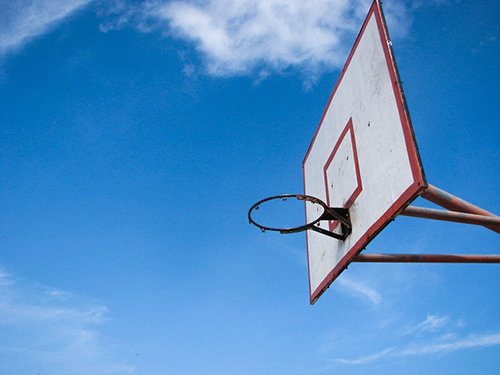 photo art of basketball